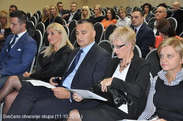 Svečano otvaranje 13. simpozijuma i predavači (Banja Vrućica 11-13. 10. 2012.)